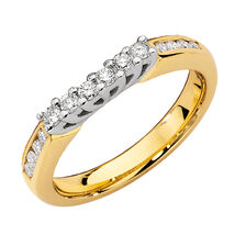 Online Exclusive - Eternity Ring with 0.34 Carat TW of Diamonds in 14ct Yellow & White Gold