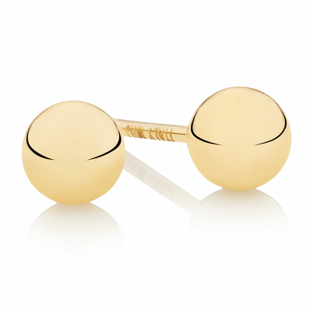 4mm Ball Stud Earrings in 10ct Yellow Gold