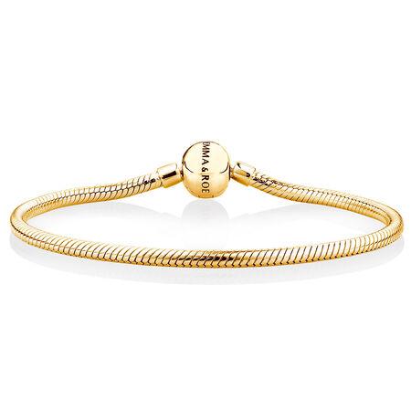 "21cm (8.5"") Charm Bracelet in 10ct Yellow Gold"