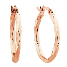 Twist Hoops in 10ct Rose Gold