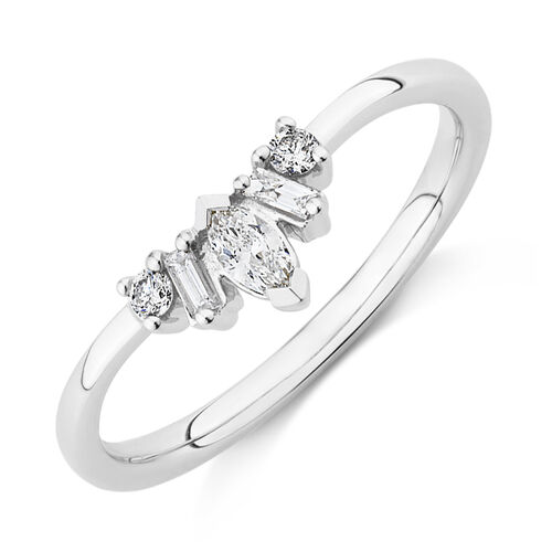 Evermore Wedding Band with 0.20 Carat TW of Diamonds on 10ct White Gold