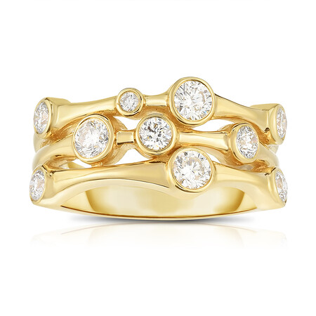 Ring with 0.69 Carat TW of Diamonds in 14ct Yellow Gold