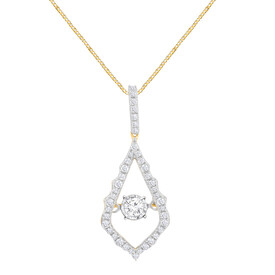 Everlight Pendant With 0.25 Carat TW Of Diamonds In 10ct Yellow Gold
