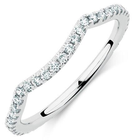 Sir Michael Hill Designer GrandAdagio Wedding Band with 0.35 Carat TW of Diamonds in 14ct White Gold