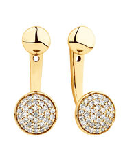 Stud & Enhancer Earrings with 0.20 Carat TW of Diamonds in 10ct Yellow Gold