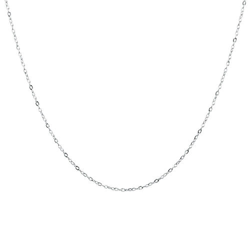 "40cm (16"") Solid Cable Chain in 10ct White Gold"