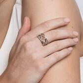 Infinitas Ring with 1/4 Carat TW of Diamonds in 10ct Rose Gold