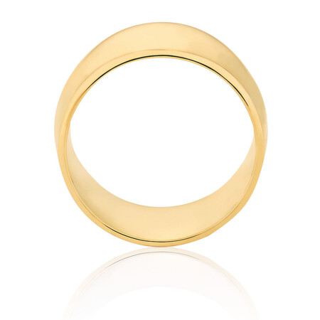 Barrel Ring in 10ct Yellow Gold