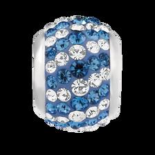 Blue & White Crystal Charm