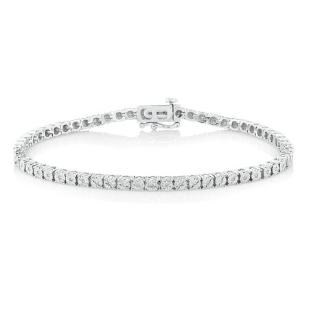 Tennis Bracelet with 1/2 Carat TW of Diamonds in Sterling Silver