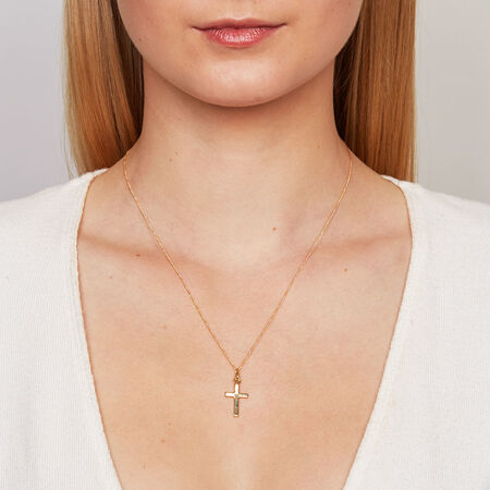 Cross Pendant in 10ct Yellow Gold