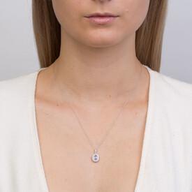 Michael Hill Designer Fashion Pendant with Tanzanite & 0.20 Carat TW of Diamonds in 10ct White Gold