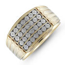 Four Row Ring with 0.15 Carat TW of Diamonds in 10ct Yellow Gold