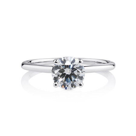 Laboratory-Created 1.25 Carat Diamond Ring in 14ct White Gold