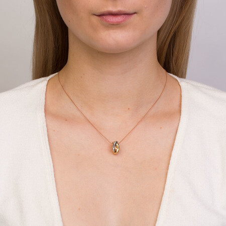 Knot Pendant in 10ct Yellow, White & Rose Gold
