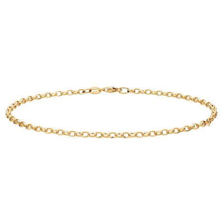 """27cm (11"""") Belcher Anklet in 10ct Yellow Gold"""