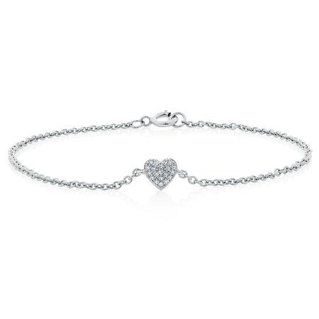Bracelet with Diamonds in Sterling Silver
