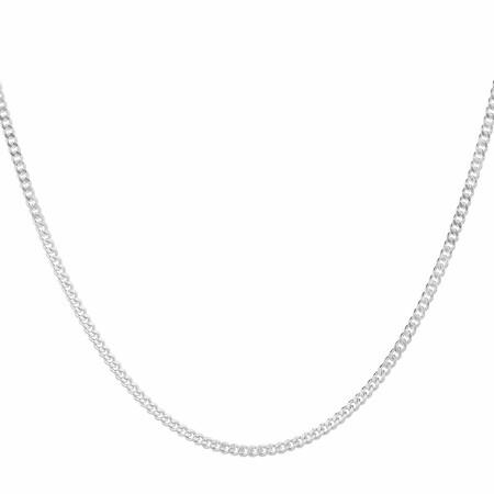 """70cm (28"""") Curb Chain in Sterling Silver"""