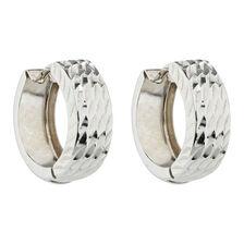 Hoop Earrings in 10ct White Gold