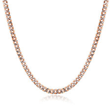 "45cm (18"") Hollow Chain in 10ct White & Rose Gold"