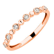 Bubble Ring with 0.12 Carat TW of Diamonds in 10ct Rose Gold