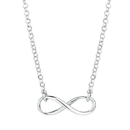 Infinity Necklace in Sterling Silver