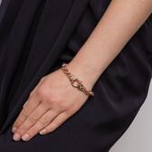 Diamond Set Belcher Bracelet in 10ct Rose Gold
