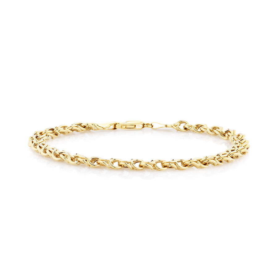 Fancy Double Link Bracelet in 10ct Yellow Gold