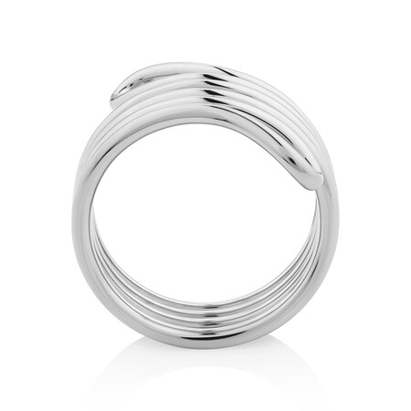 Double Row Loop Ring In Sterling Silver