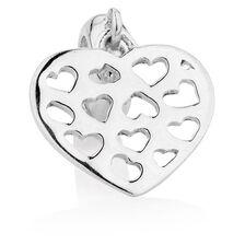 Sterling Silver Heart Dangle Charm