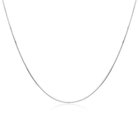 "55cm (22"") Box Chain in Sterling Silver"