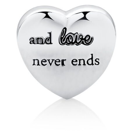 Family Heart Charm in Sterling Silver