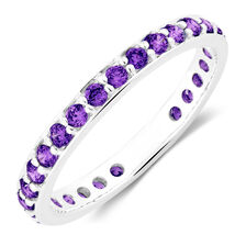 Purple Cubic Zirconia Stack Ring