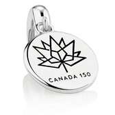 150 Year Canada Dangle Charm in Sterling Silver