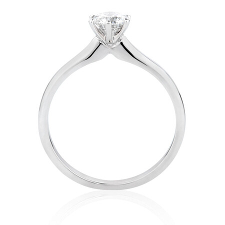 Certified Solitaire Engagement Ring with a 1/2 Carat TW Diamond in 18ct White Gold