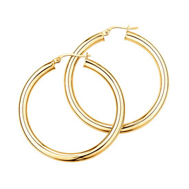 35mm Hoop Earrings in 10ct Yellow Gold