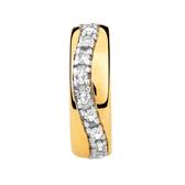Diamond Set & 10ct Yellow Gold Spacer
