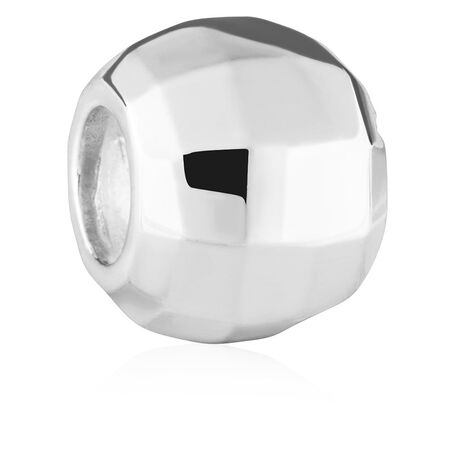 Sterling Silver Faceted Mirror Charm