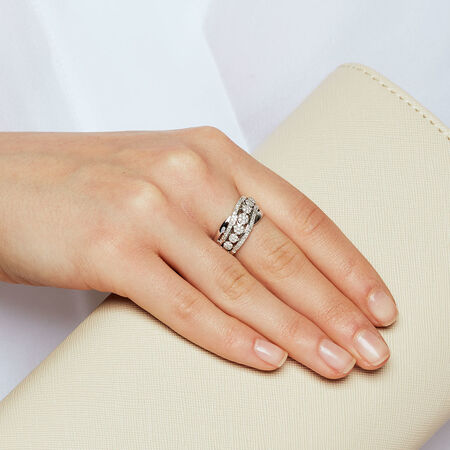 Ring with 0.33 Carat TW of Diamonds in 10ct White Gold