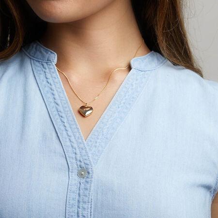 Heart Locket Pendant in 10ct Yellow Gold