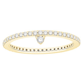 Stacker Ring with 0.43 Carat TW of Diamonds in 10ct Yellow Gold