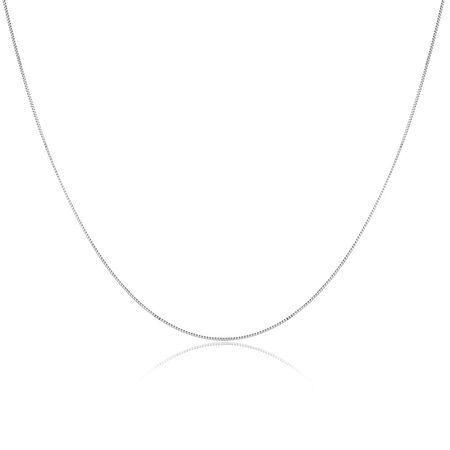 """50cm (20"""") Box Chain in 14ct White Gold"""