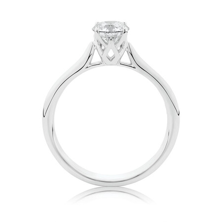 Southern Star Solitaire Engagement Ring with a 0.70 Carat TW Diamond in 14ct White Gold