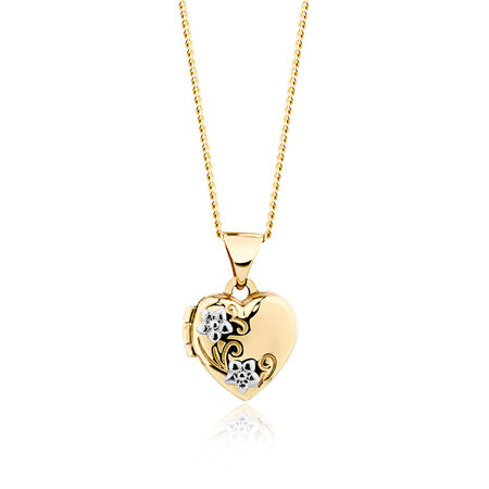 Heart Locket in 10ct Yellow Gold