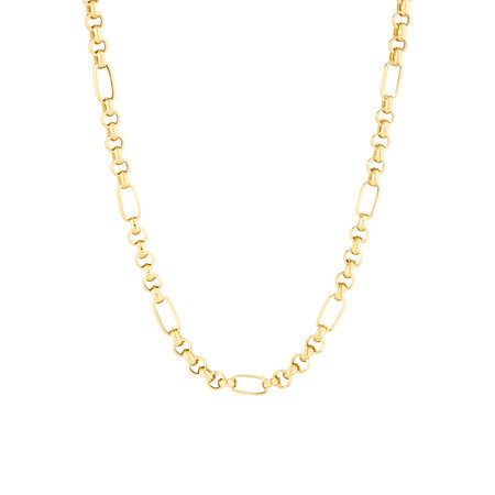 "50cm (20"") Belcher Chain in 10ct Yellow Gold"