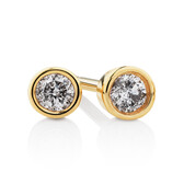 Stud Earrings with 0.14 Carat TW of Diamonds in 10ct Yellow Gold