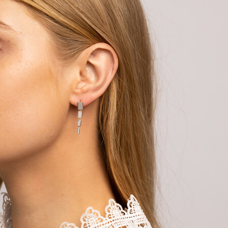 Drop Earrings With 0.20 Carat TW Of Diamonds In 10ct Yellow Gold
