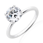 Laboratory-Created 2 Carat Diamond Ring in 14ct White Gold