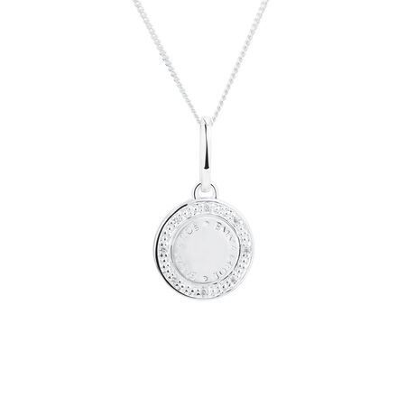 Emma & Roe Mini Pendant with Cubic Zirconia in Sterling Silver