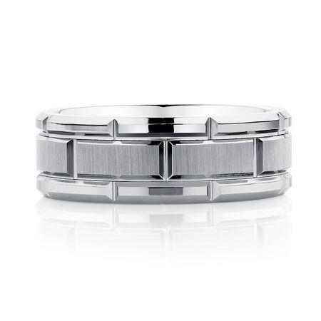 Men's Ring in Grey Tungsten
